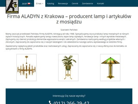 Aladyn akolitka producent Kraków
