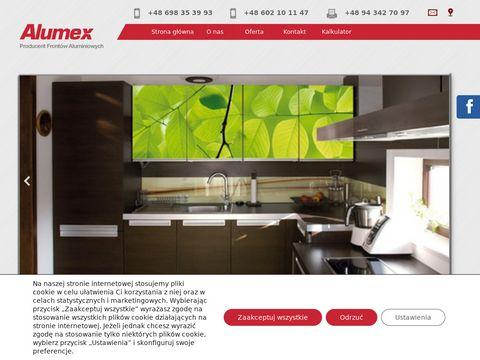 Alumex fronty ze szkła Koszalin