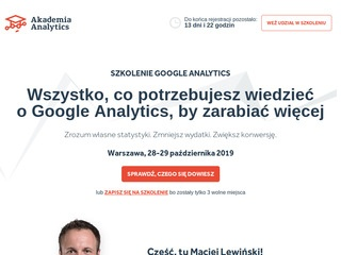 Szkolenia analytics