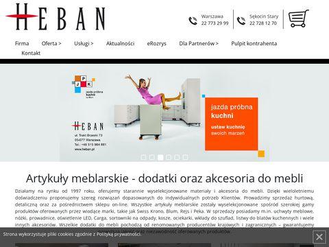 Akcesoria.heban.pl do mebli warszawa