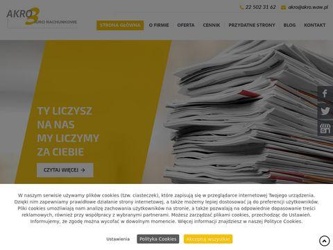 AKRO biuro rachunkowe Warszawa