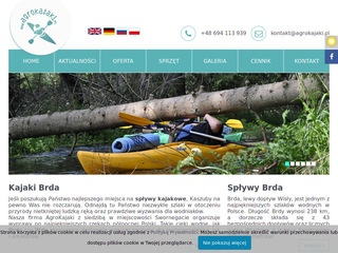 Agrokajaki - spływy Brdą