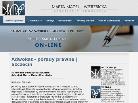 Adwokat-madej.pl prawnik Szczecin