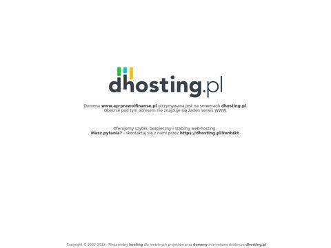 Ap-prawoifinanse.pl doradca podatkowy