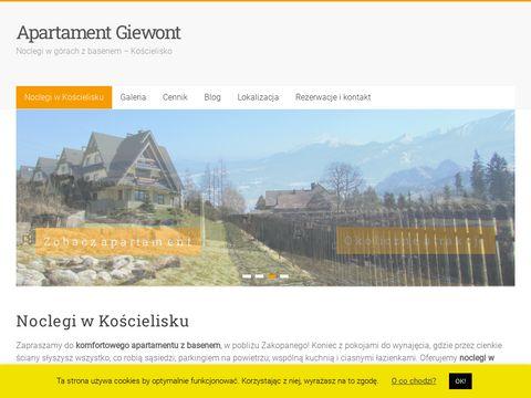 Apartamentgiewont.com.pl noclegi Zakopane