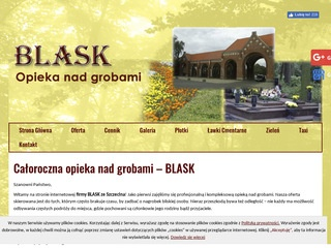 Blask sprzątanie grobów Szczecin