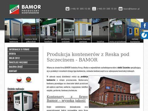 Bamor kontenery boiskowe Szczecin