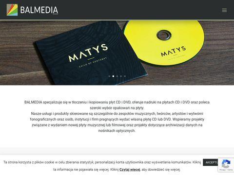 Balmedia.com.pl tłoczenie płyt CD