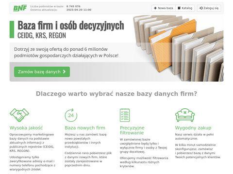 Bazafirmceidg.pl nowe firmy