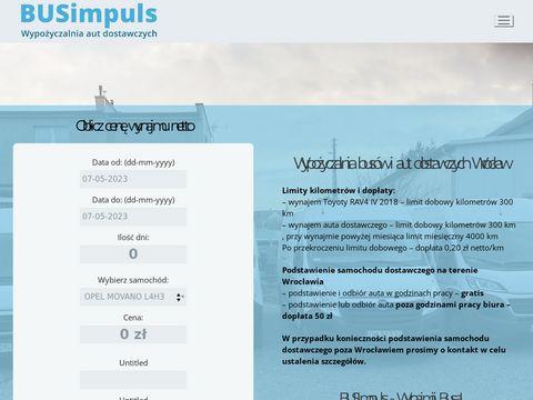 Busimpuls.pl wypożyczalnia aut dostawczych