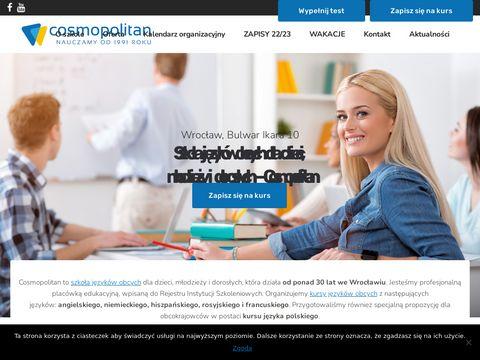 Cosmopolitan.edu.pl szkoła języków