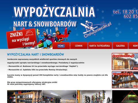 Chowaniecski.pl wypożyczalnia nart Murzasichle