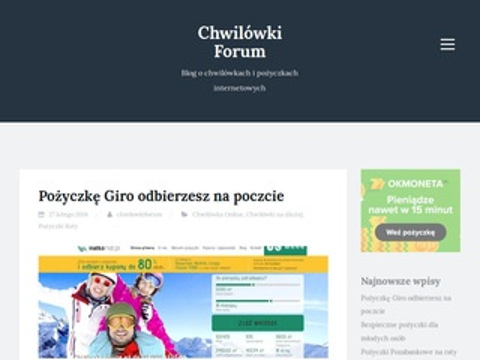 Chwilowki-forum.pl pożyczkowe