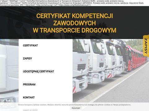 Certyfikatkatowice.pl zawodowych kurs
