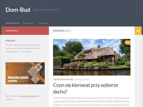 Dom-bud.com.pl poradnik budowlany