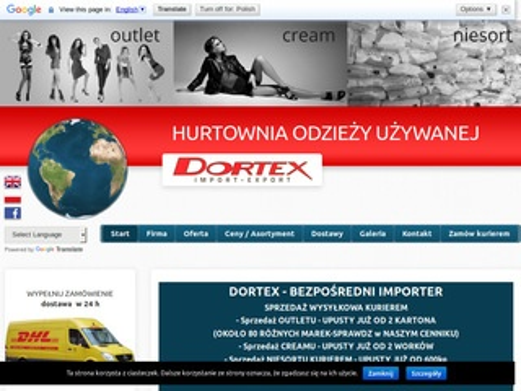 Dortex.pl hurtownia odzieży używanej Bydgoszcz