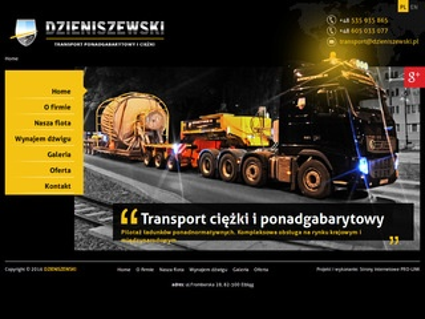 P. T. S. Dzieniszewski naczepy modułowe Elbląg
