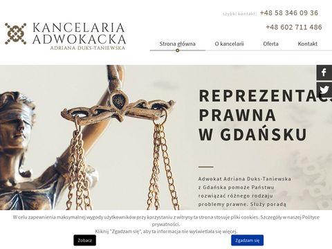 Duks.pl Adriana Duks-Taniewska spadek Gdańsk