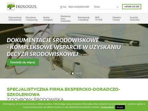 Ekologus.pl - doradztwo środowiskowe