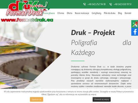Format Druk wizytówki Łódź