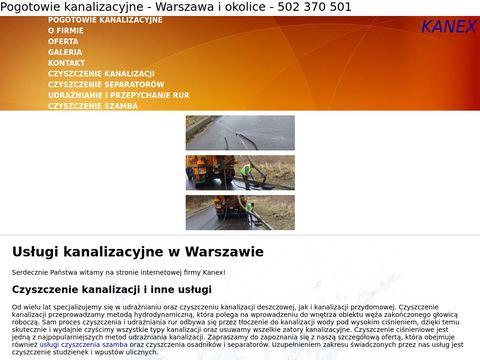 Kanex usługi kanalizacyjne Warszawa