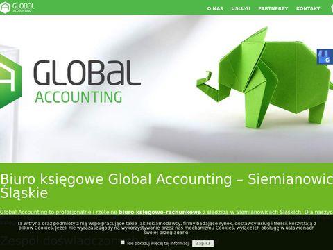 Global Accounting materiały reklamowe