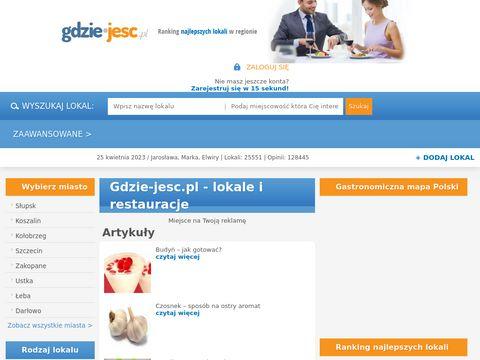 Gdzie-jesc.pl - opinie o restauracjach