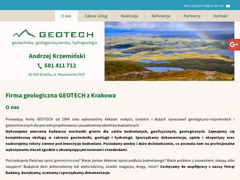 Geotech odbiory geologiczne Kraków