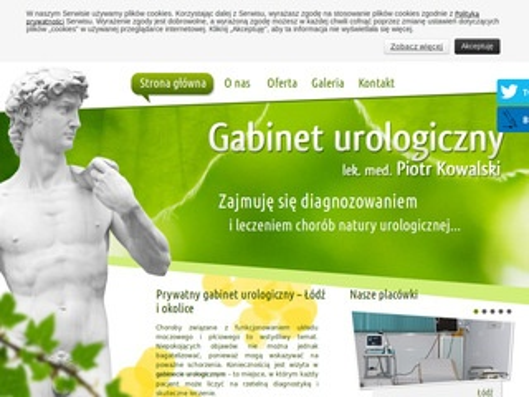 Gabineturologicznylodz.com.pl Piotr Kowalski Łódź