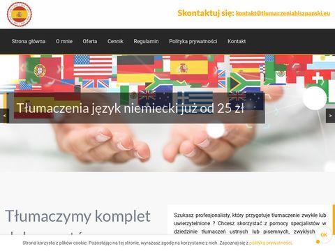 Tlumaczeniahiszpanski.eu