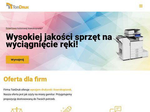 TonDruk - serwis drukarek
