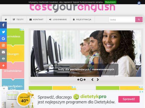 Testyourenglish.pl ćwiczenia z angielskiego