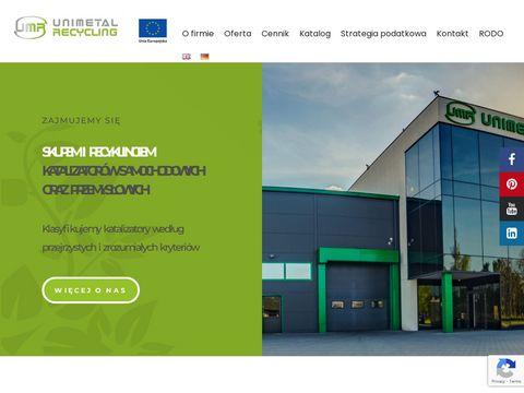 Unimetal Recycling skup katalizatorów