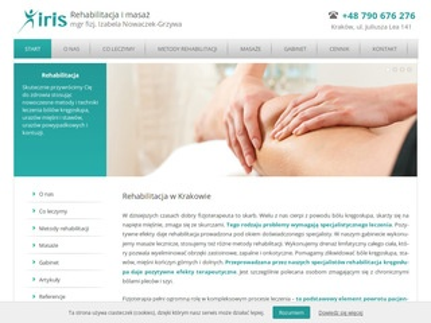Rehabilitacja-iris.pl gabinet skutecznej rehabilitacji