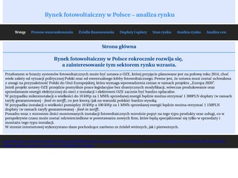 Rynekfotowoltaiczny.com.pl w Polsce