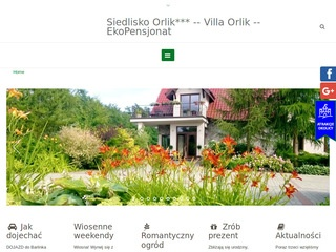 Siedlisko-orlik.pl hotel Barlinek