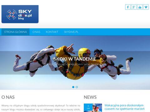 Skydiveblog.pl skoki spadochronowe