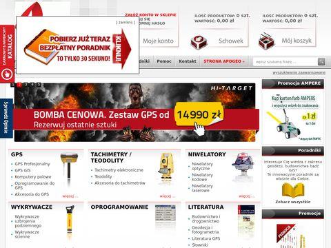 Sklep.apogeo.com.pl ze sprzętem geodezyjnym