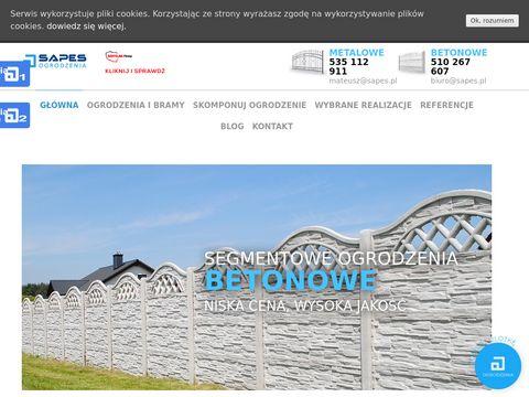 Sapes.pl ogrodzenia betonowe