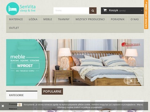 Senvita.pl - łóżka drewniane