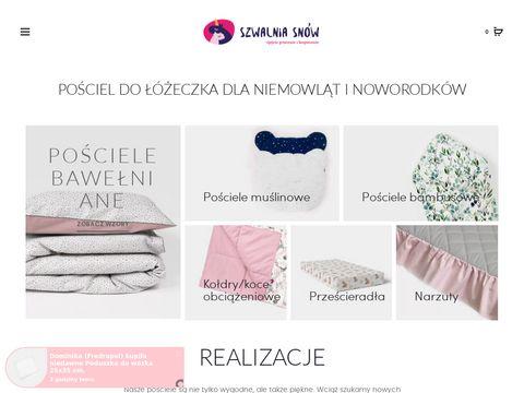 Szwalniasnow.pl - ochraniacze do łóżeczka