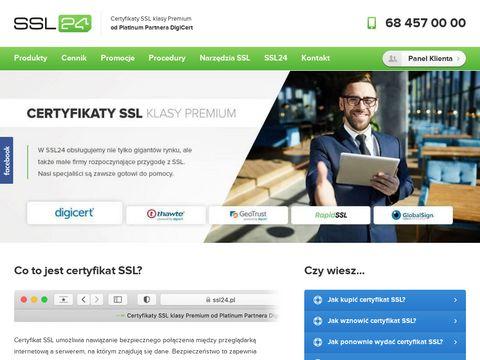 Ssl24.pl certyfikat GeoTrust