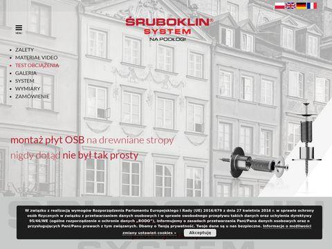 Sruboklin.eu system montażu płyt osb