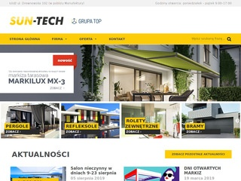 Sun-Tech rolety zewnętrzne Łódź