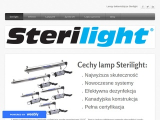 Sterilight.weebly.com - dezynfekcja UV