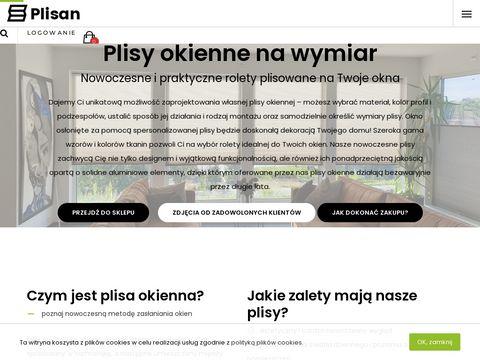 Plisan.pl rolety harmonijkowe