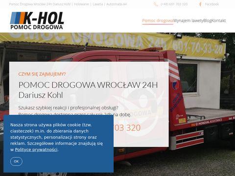 Pomoc-drogowa24.eu Wrocław 24h Dariusz Kohl