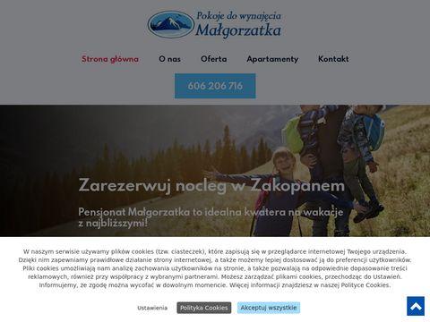 Pokojemalgorzatka.pl wynajem Zakopane