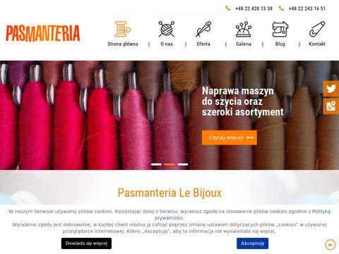 Pasmanteria.waw.pl dodatki krawieckie Warszawa