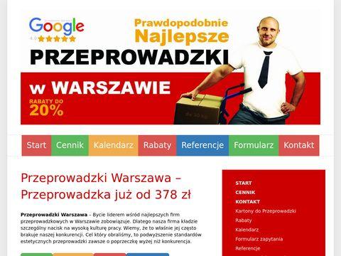 Przeprowadzki Warszawa cennik
